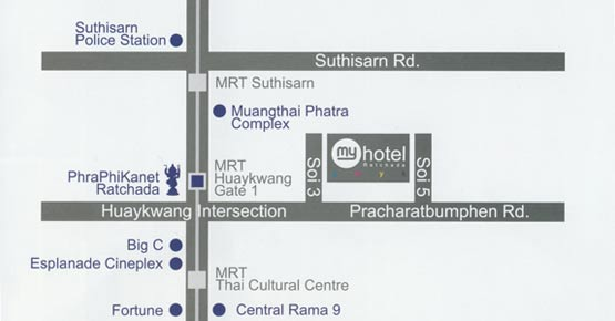 Location Map - My Hotel Ratchada